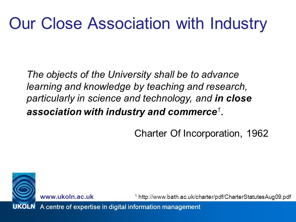 A centre of expertise in digital information management www.ukoln.ac.uk What are Institutional Data Repositories for.