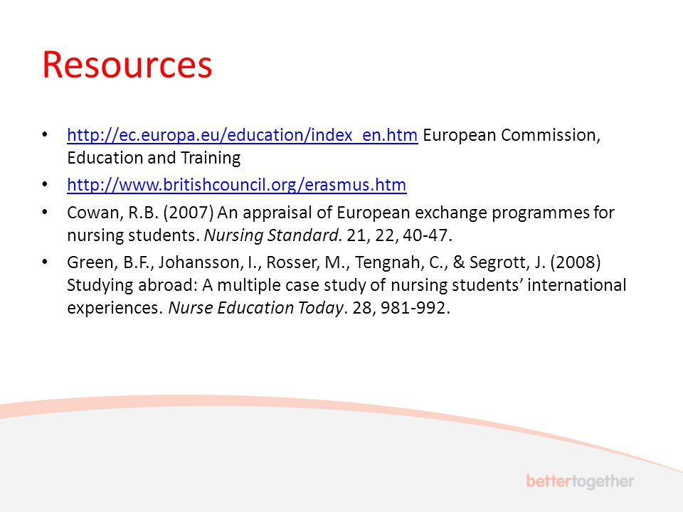 Resources   European Commission, Education and Training     Cowan, R.B.