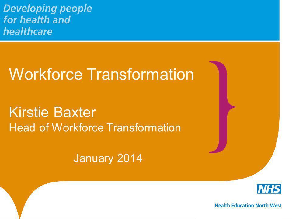 Workforce Transformation Kirstie Baxter Head of Workforce Transformation January 2014