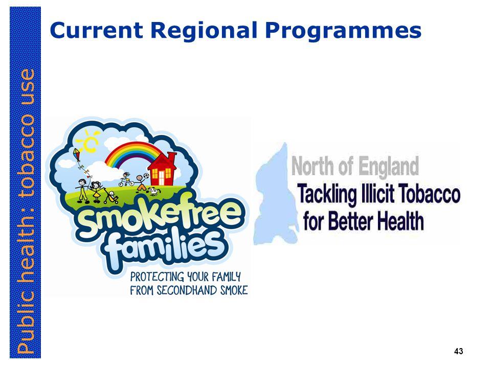 Public health: tobacco use 43 Current Regional Programmes