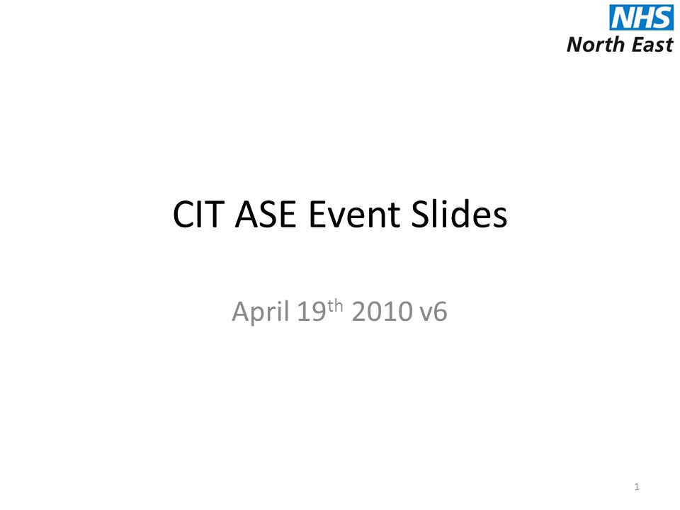 CIT ASE Event Slides April 19 th 2010 v6 1