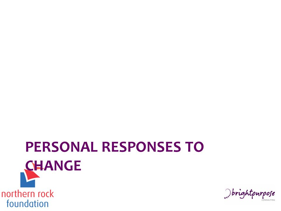 PERSONAL RESPONSES TO CHANGE