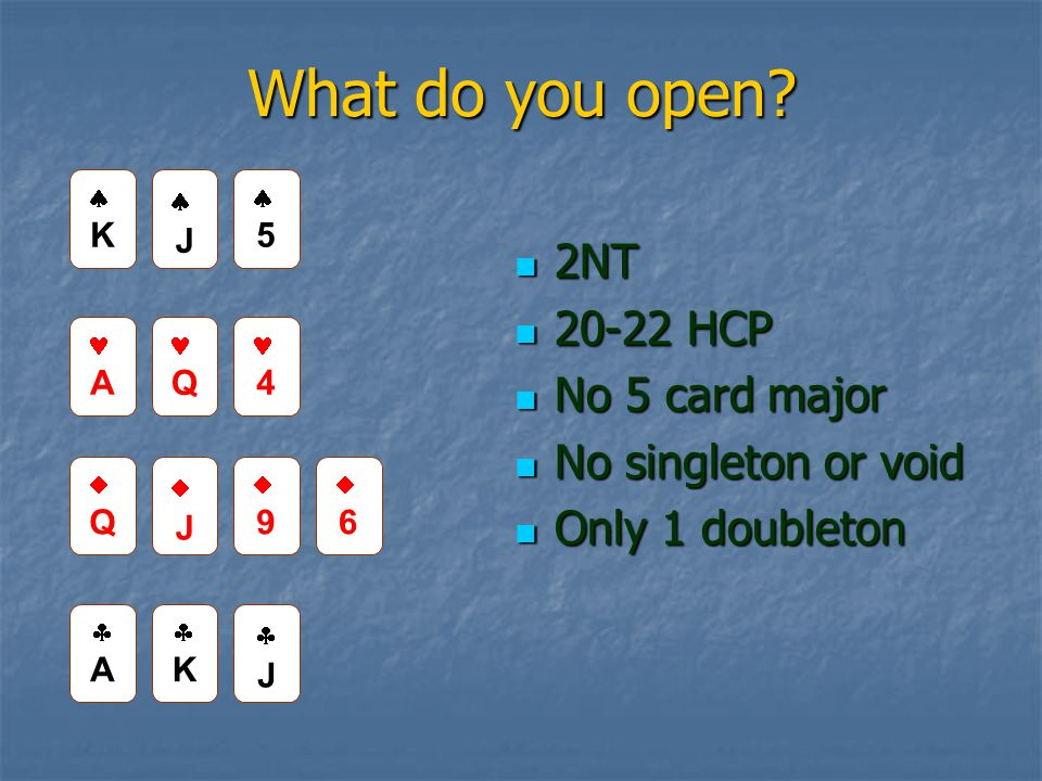 What do you open.