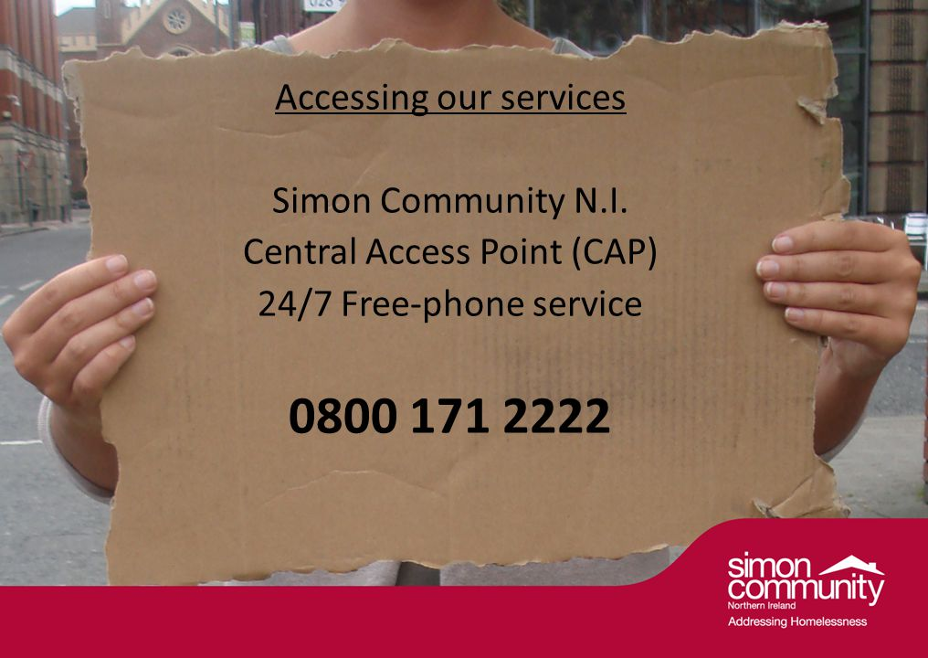 Accessing our services Simon Community N.I.