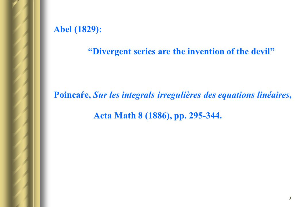 4 1.INTEGRAL METHODS 2.DIFFERENTIAL EQUATION THEORY 3.