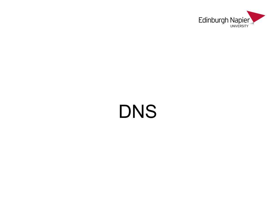 Basics DNS – Domain Name Service Translates between machine names and IP.