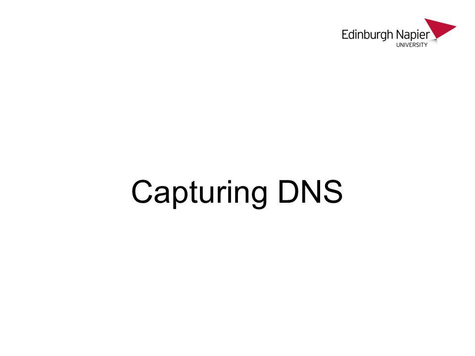 Capturing DNS