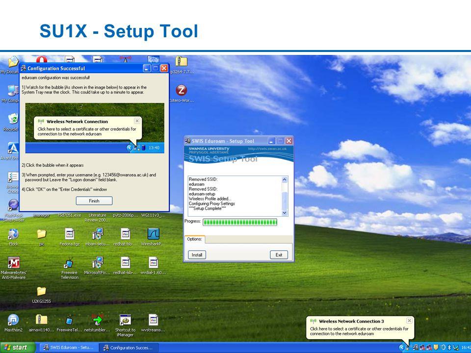 www.swan.ac.uk/lis SU1X - Setup Tool