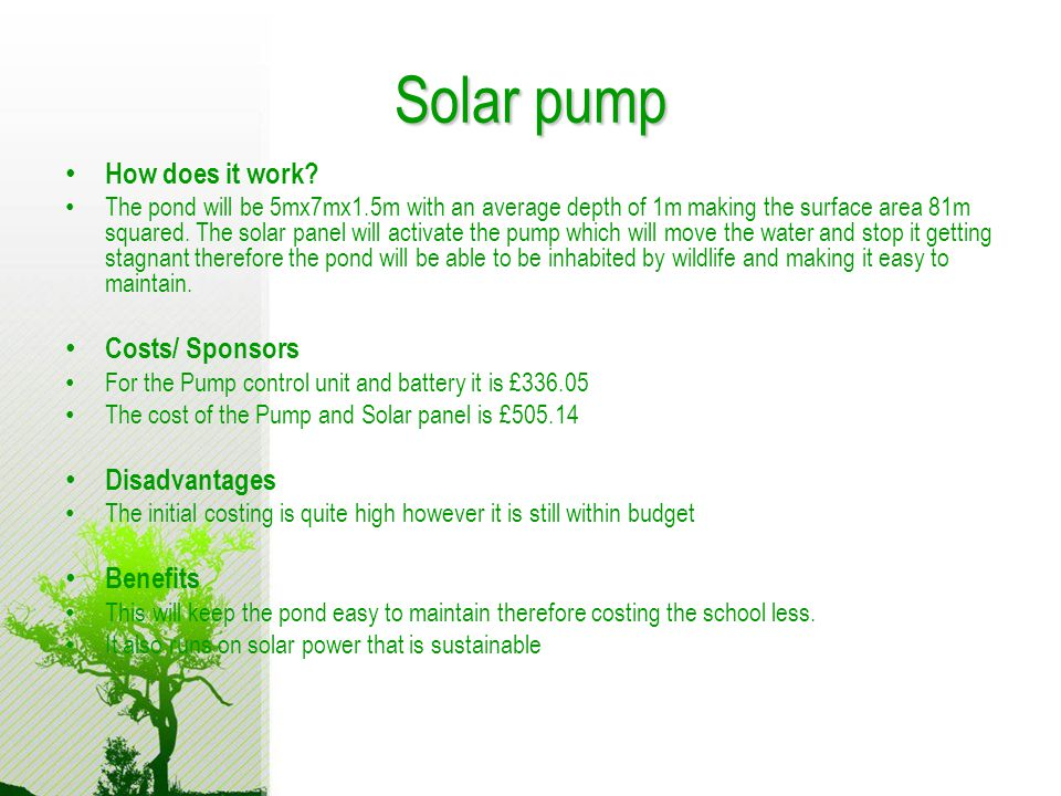 Solar pump How does it work.