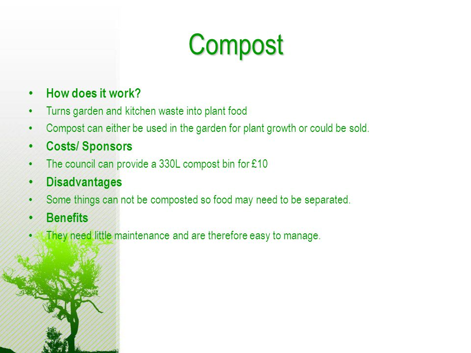 Compost How does it work.