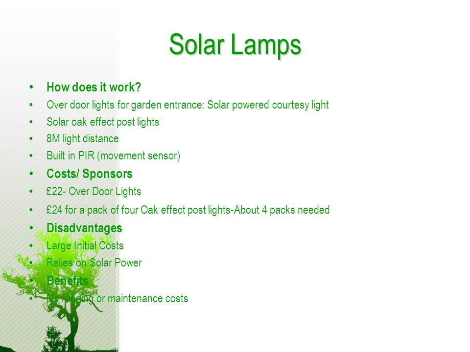 Solar Lamps How does it work.