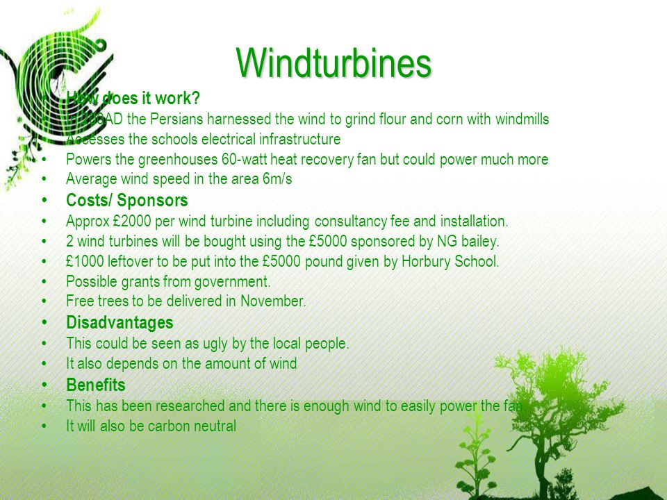 Windturbines How does it work.