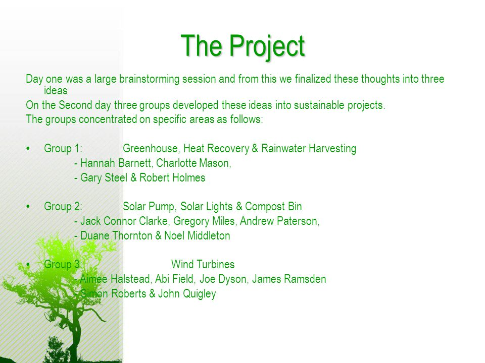 With thanks to… Charlotte Mason Jack Clarke Greg Miles Andy Paterson Aimee Halstead Abi Field Joe Dyson James Ramsden Becky Read Hannah Barnett Simon Townsend Tom Goldthorpe Lydia Wharton Charlotte Morgan Rayhanneh Asarbakhsh Ben Brindle David Holmes Miss Tickell And Special Thanks go to the Engineers and Managers from NG Bailey for helping us with this project so that we could present it to you today Thankyou!