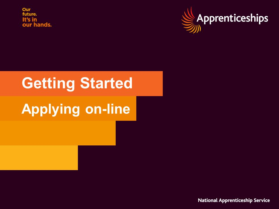 Getting Started Applying on-line