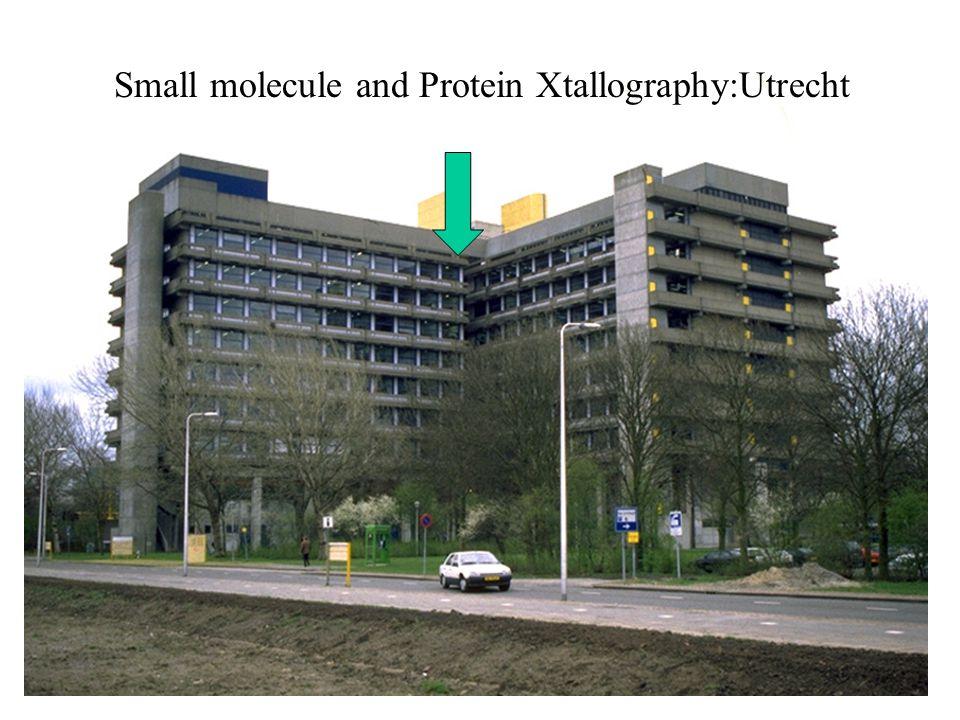 Small molecule and Protein Xtallography:Utrecht