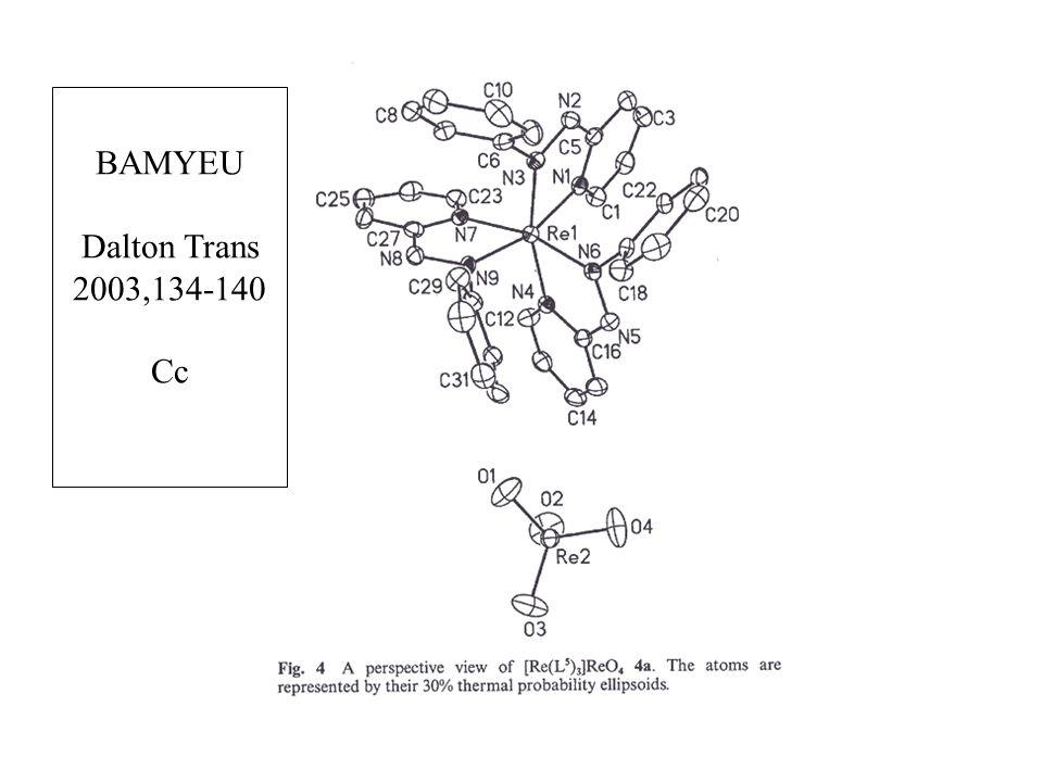 BAMYEU Dalton Trans 2003,134-140 Cc