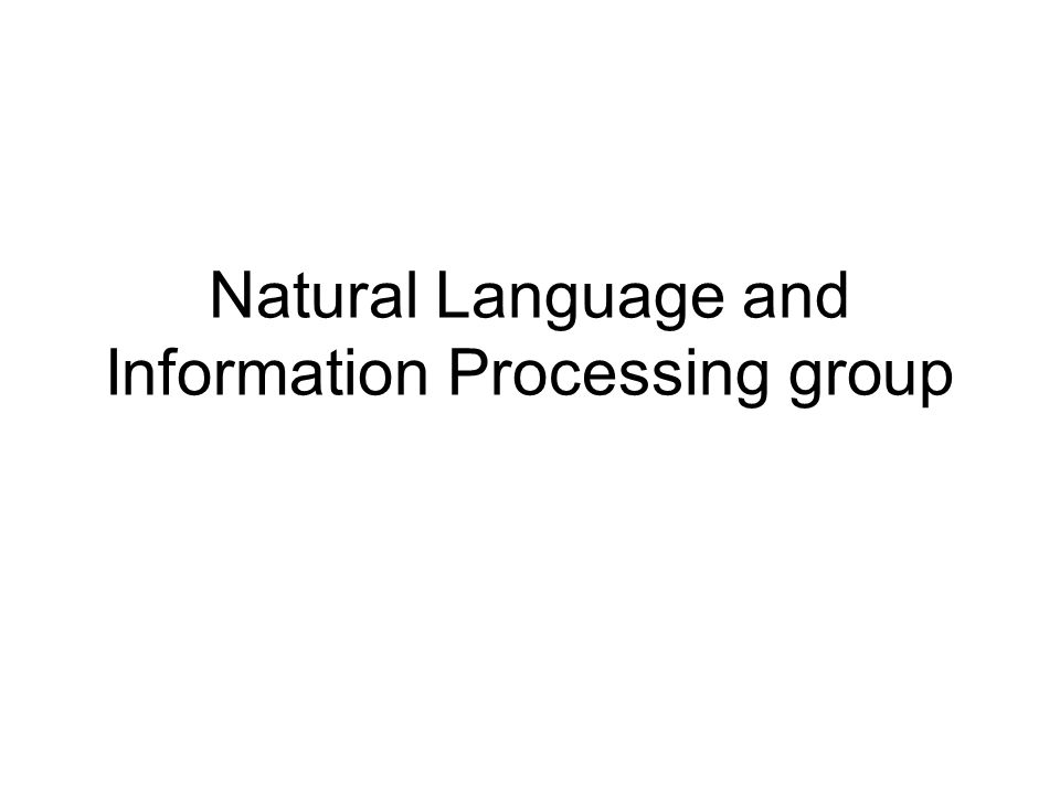 Natural Language and Information Processing group