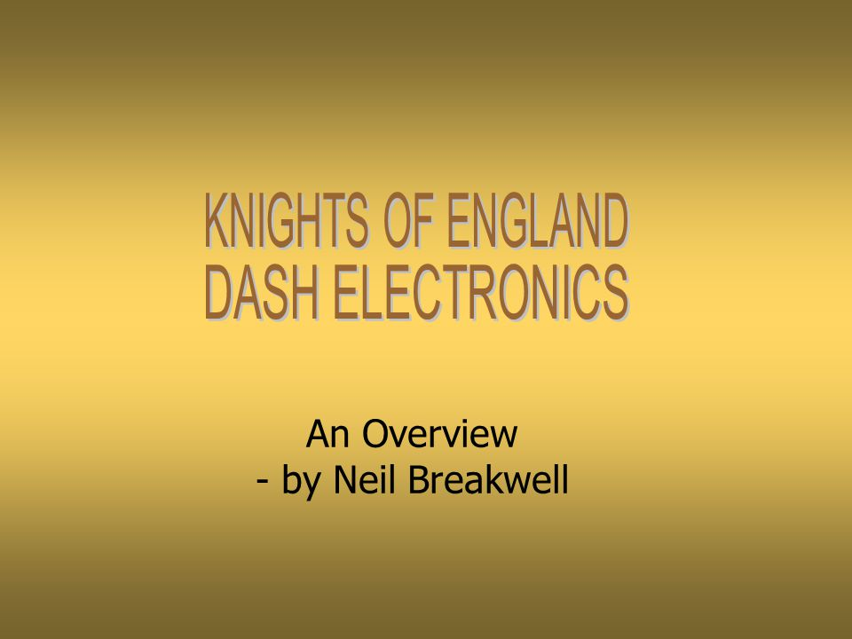An Overview - by Neil Breakwell