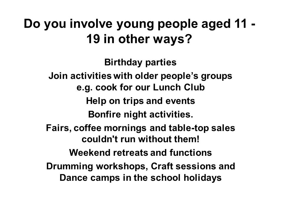 Would you like to increase the use of your building by more young people aged 11 - 19.