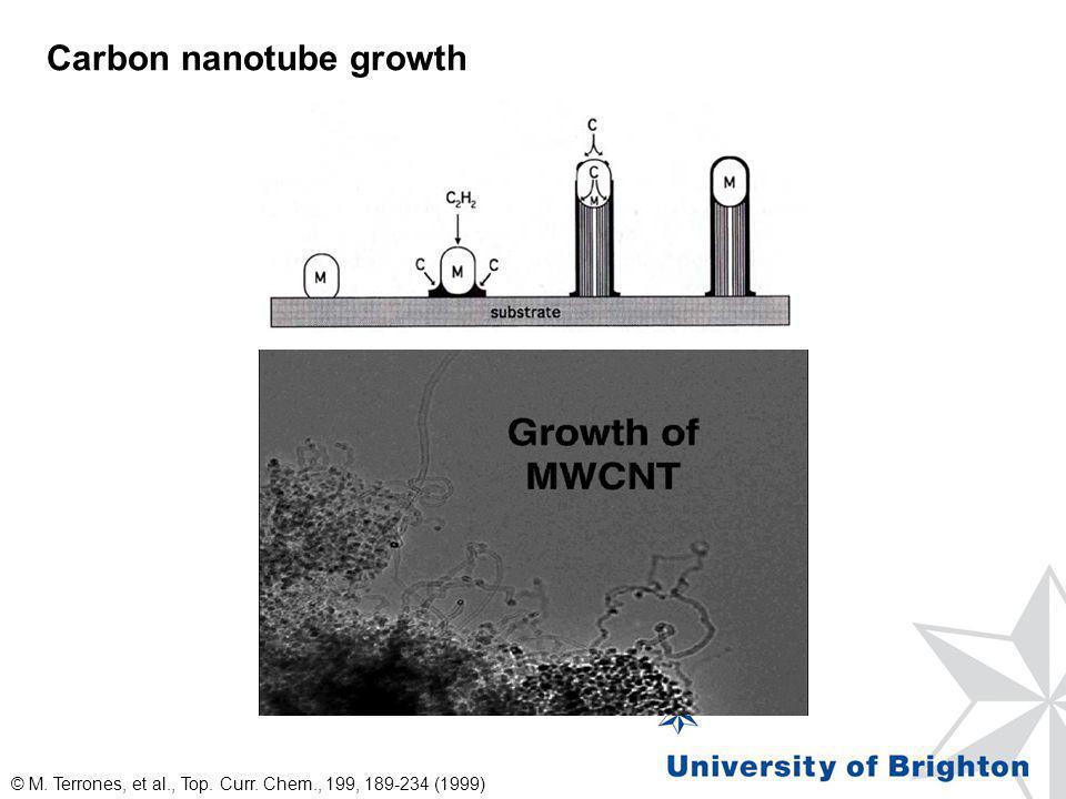 Carbon nanotube growth © M. Terrones, et al., Top. Curr. Chem., 199, 189-234 (1999)