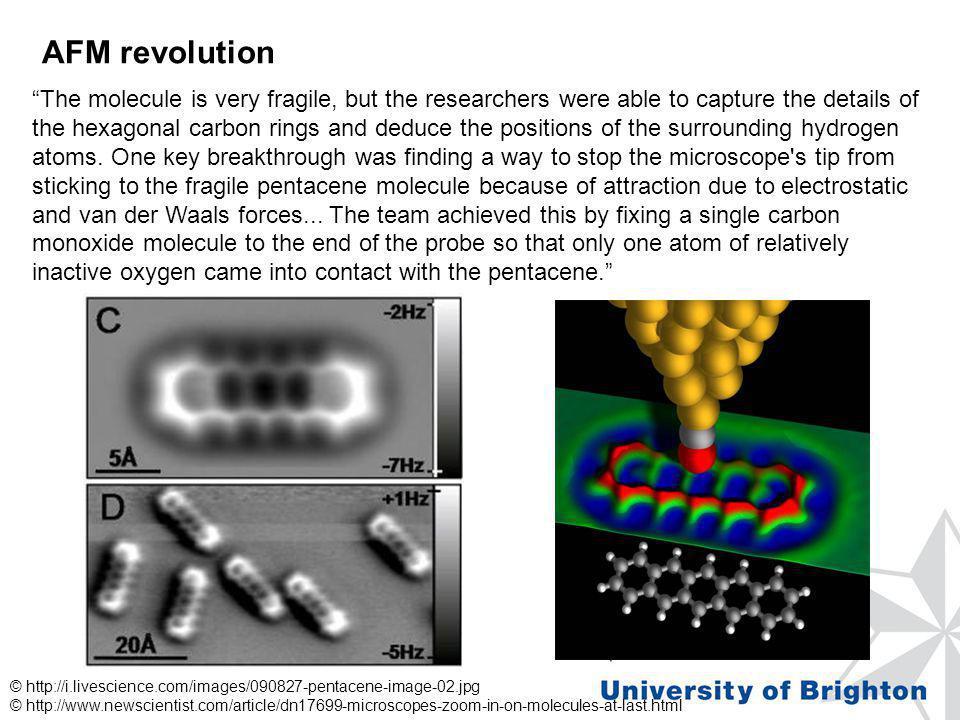 AFM revolution © http://i.livescience.com/images/090827-pentacene-image-02.jpg © http://www.newscientist.com/article/dn17699-microscopes-zoom-in-on-mo