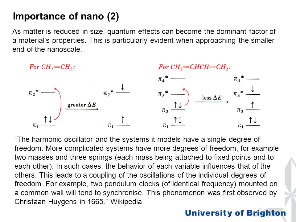 As matter is reduced in size, quantum effects can become the dominant factor of a material's properties. This is particularly evident when approaching