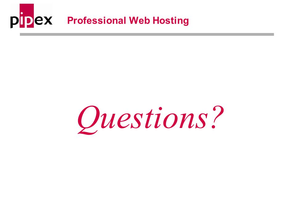 Professional Web Hosting Questions