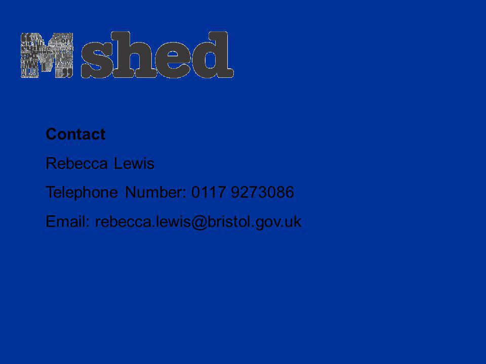 Contact Rebecca Lewis Telephone Number: