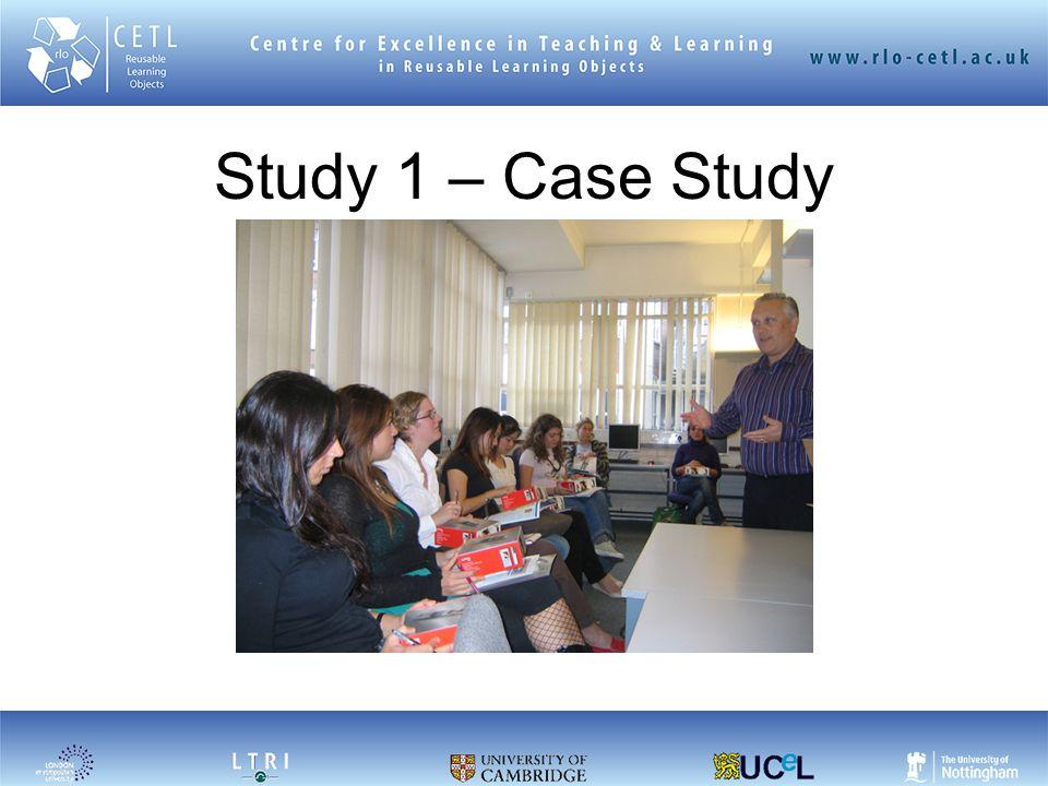 Study 1 – Case Study