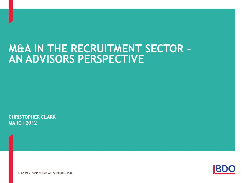 Page 2 WHAT I WILL COVER M&A in the recruitment sector – an advisors perspective M&A activity in the sector Valuations How to build an attractive proposition Preparing for a sale process