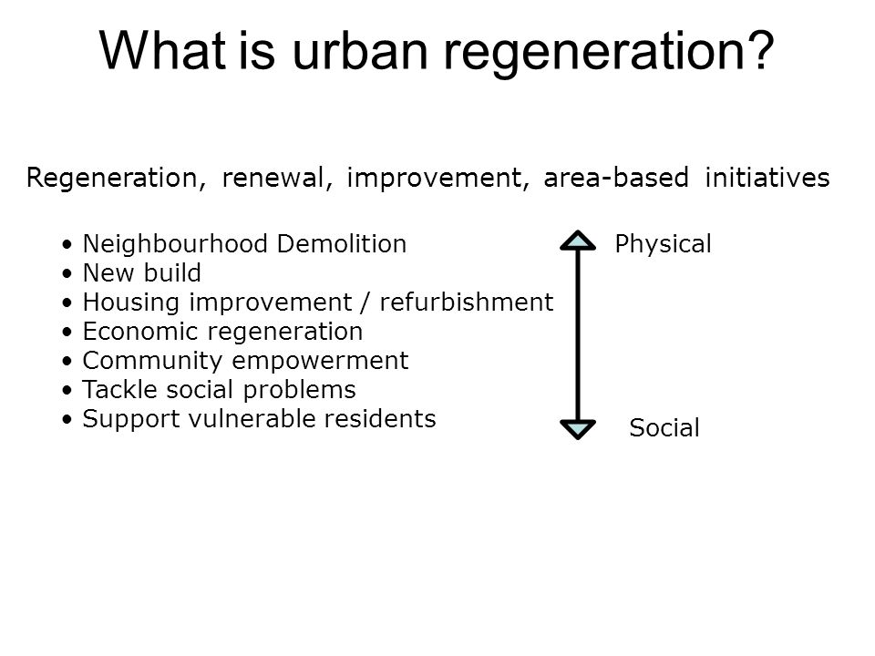 What is urban regeneration.