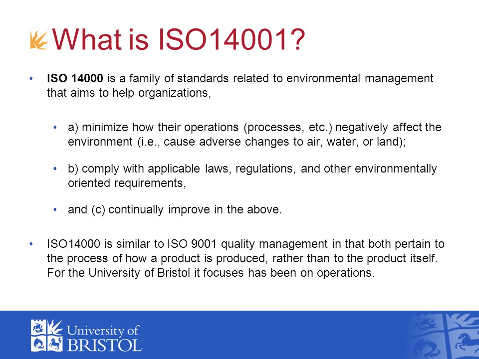 What is ISO14001.