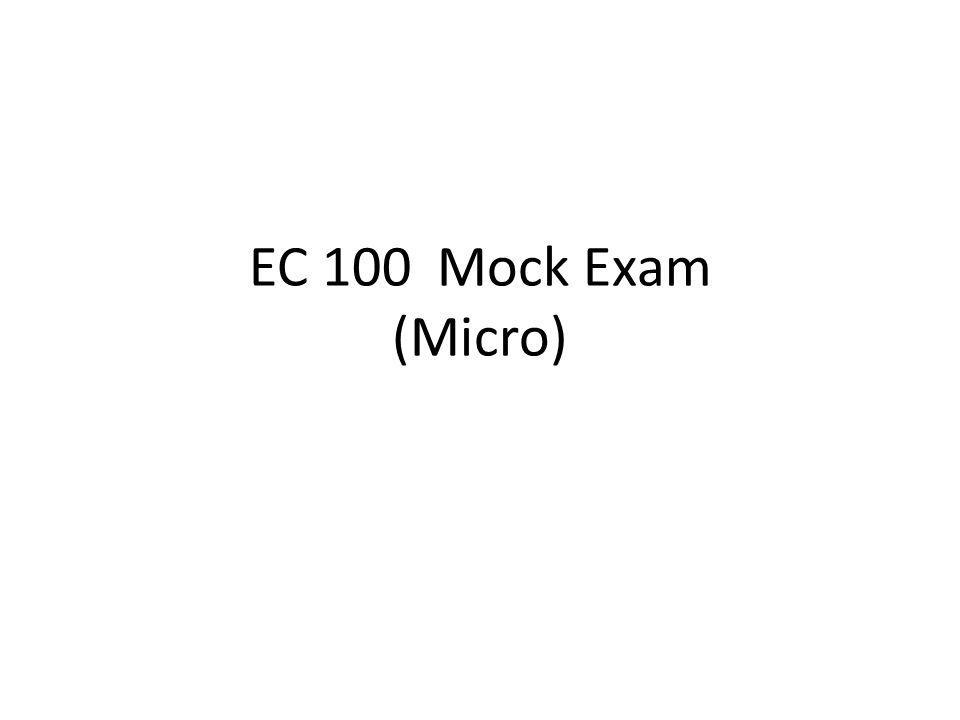Mock Exam Class Discussion -This week: Discuss the Mock Exam.