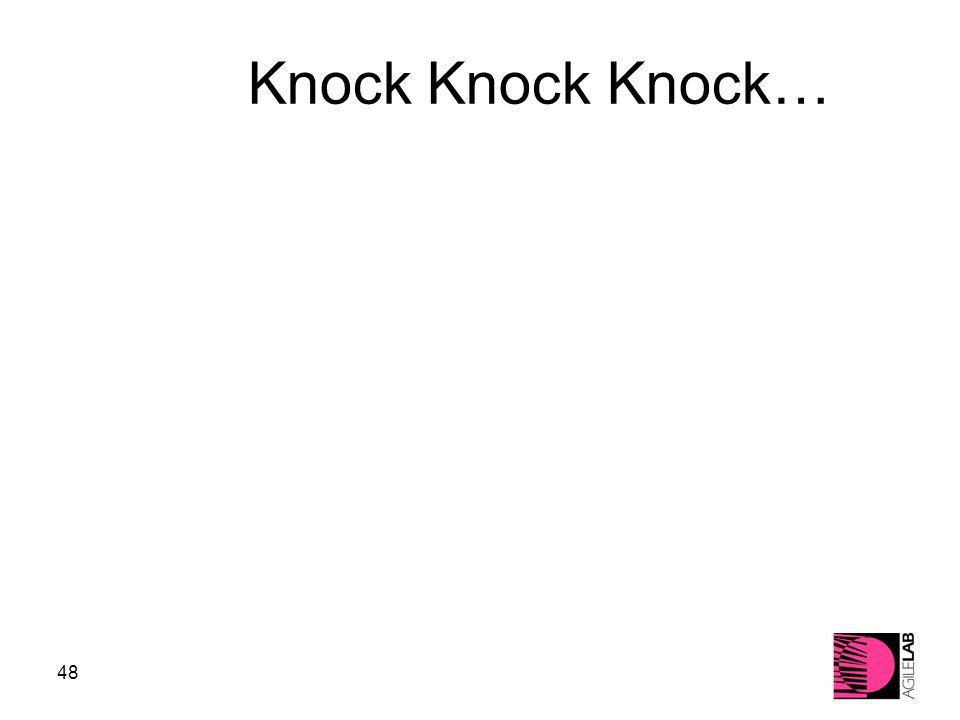 48 Knock Knock Knock…