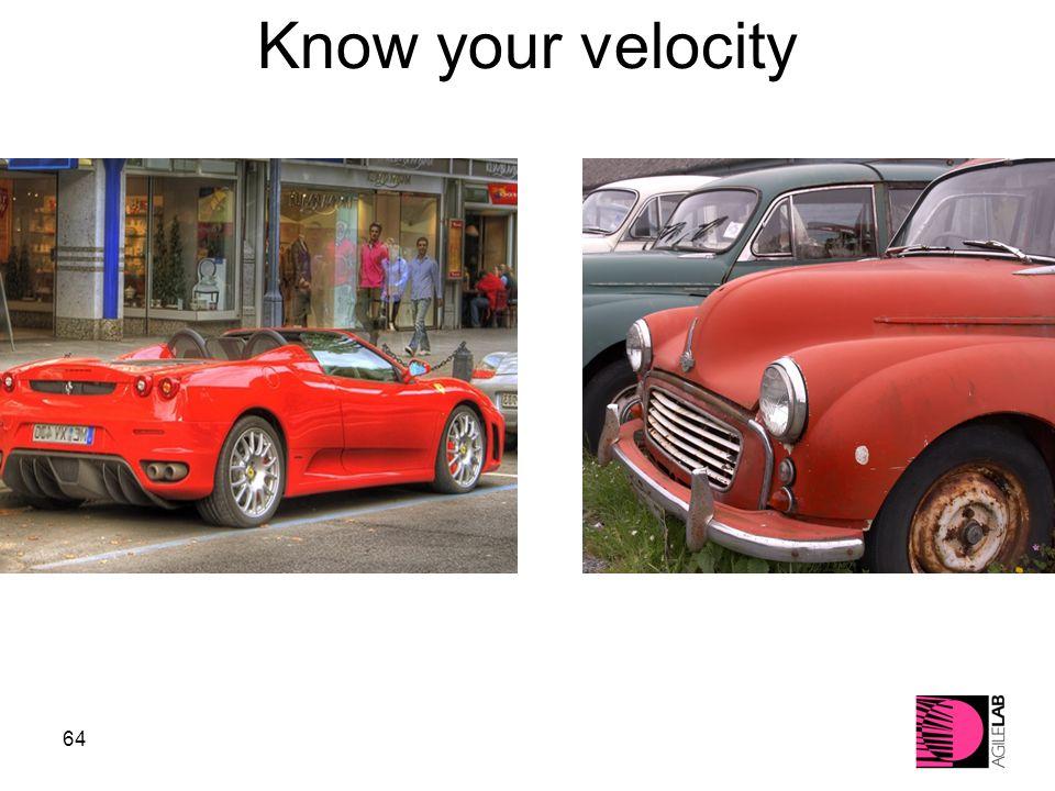 64 Know your velocity