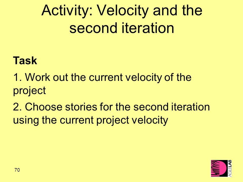 70 Activity: Velocity and the second iteration Task 1.