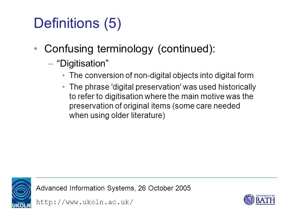 http://www.ukoln.ac.uk/ The digital preservation problem