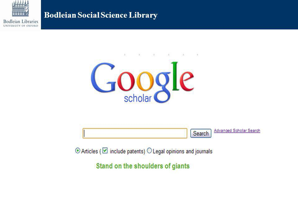Bodleian Social Science Library