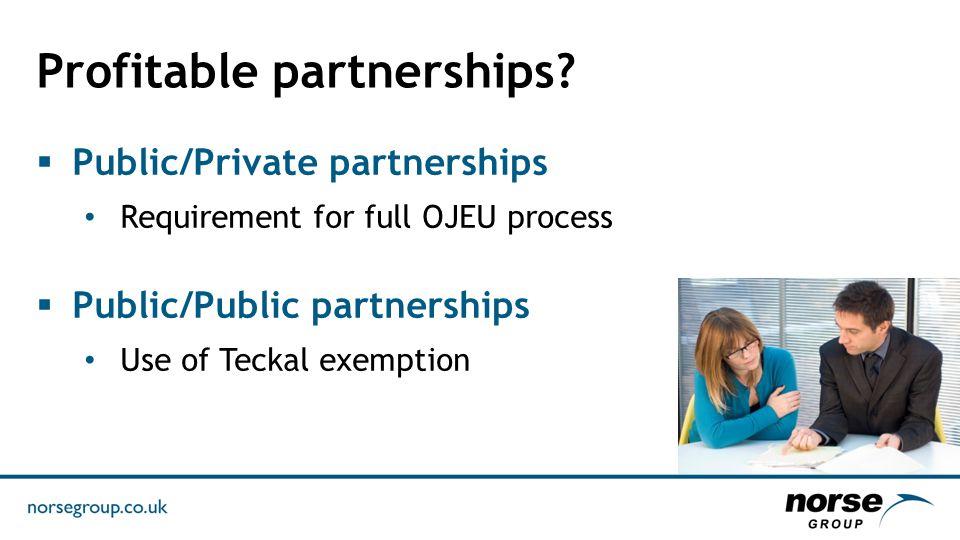 Profitable partnerships.