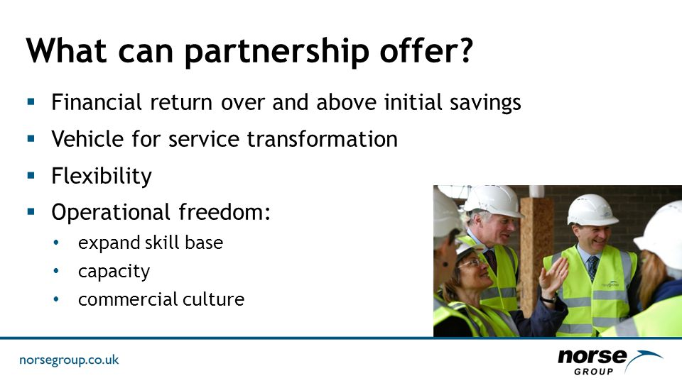 What can partnership offer.