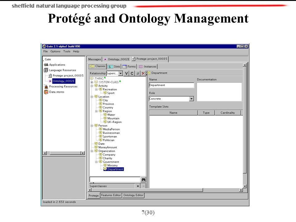 7(30) Protégé and Ontology Management