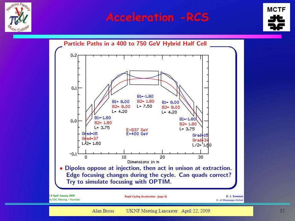 Acceleration -RCS Alan Bross UKNF Meeting Lancaster April 22, 200935