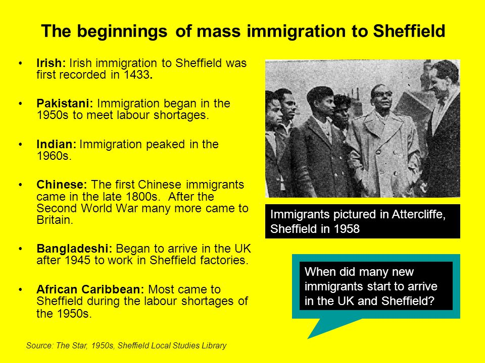 Why was there so much immigration into Britain in the 1950s.