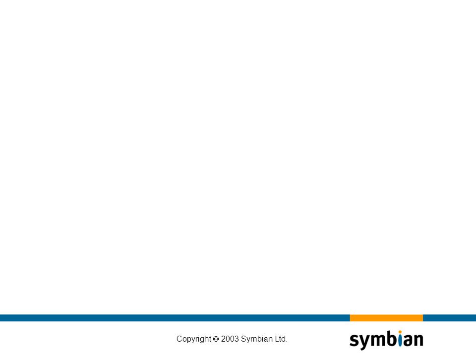 Copyright  2003 Symbian Ltd.