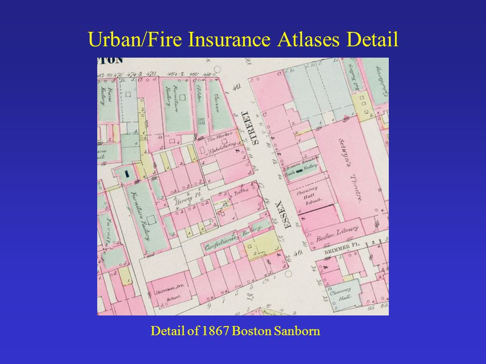 Urban/Fire Insurance Atlases Detail Detail of 1867 Boston Sanborn