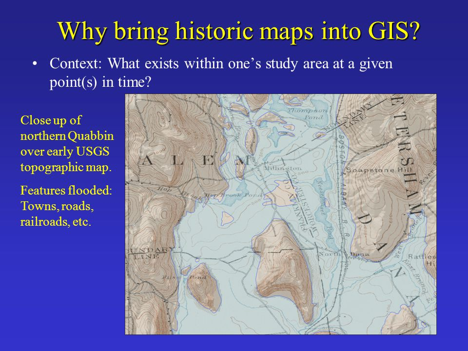 Global Positioning System (GPS) Useful for georeferencing when one does not have any reference data or coordinates on the map Primarily used for city-scale or larger scale maps, not for maps of very large regions