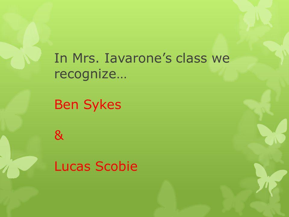 In Mrs. Lambert's class we are proud of.. Ezra Hrycenko
