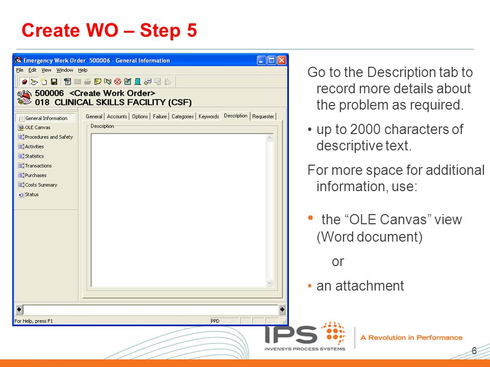 7 2008 NA Client Conference Template Create WO – Step 6 On the Client tab: enter the appropriate information.