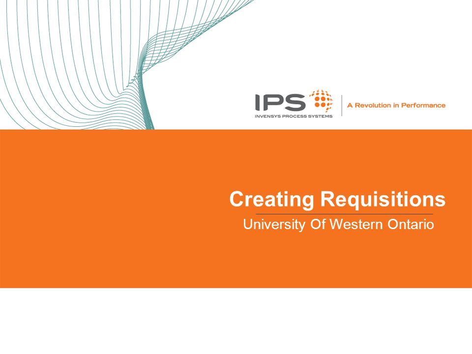Creating Requisitions University Of Western Ontario