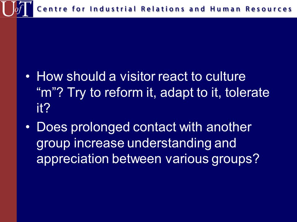 Suppose one were assigned the responsibility of preparing people to go to another culture or work with members of a subculture.